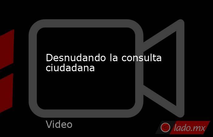 Desnudando la consulta ciudadana. Noticias en tiempo real