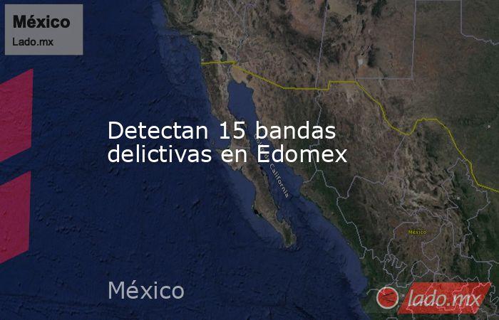 Detectan 15 bandas delictivas en Edomex. Noticias en tiempo real