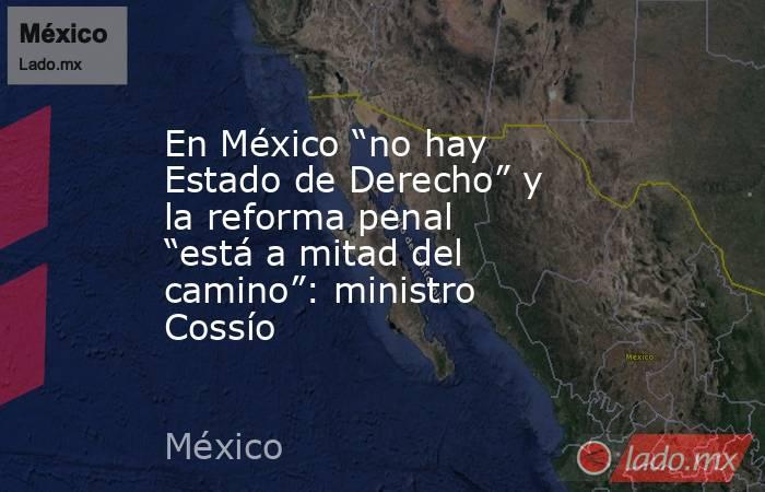 """En México """"no hay Estado de Derecho"""" y la reforma penal """"está a mitad del camino"""": ministro Cossío. Noticias en tiempo real"""