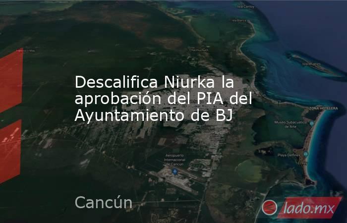 Descalifica Niurka la aprobación del PIA del Ayuntamiento de BJ. Noticias en tiempo real