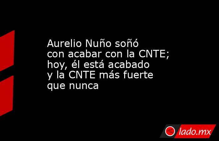 Aurelio Nuño soñó con acabar con la CNTE; hoy, él está acabado y la CNTE más fuerte que nunca. Noticias en tiempo real