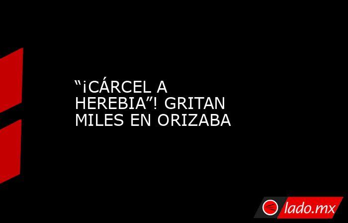 """""""¡CÁRCEL A HEREBIA""""! GRITAN MILES EN ORIZABA. Noticias en tiempo real"""