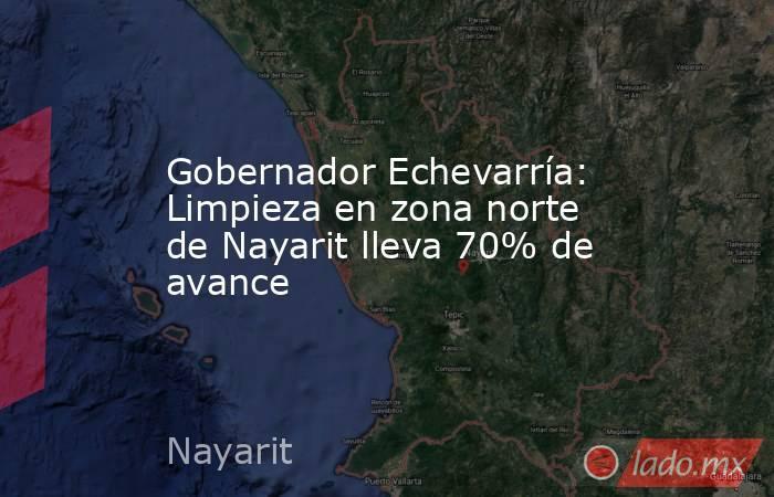 Gobernador Echevarría: Limpieza en zona norte de Nayarit lleva 70% de avance. Noticias en tiempo real