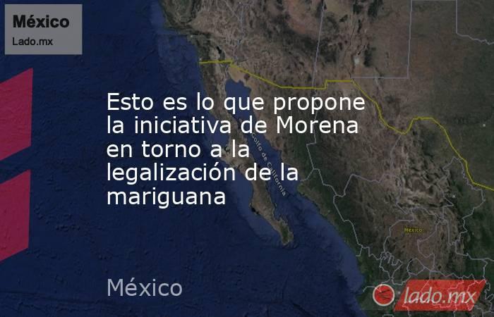 Esto es lo que propone la iniciativa de Morena en torno a la legalización de la mariguana. Noticias en tiempo real