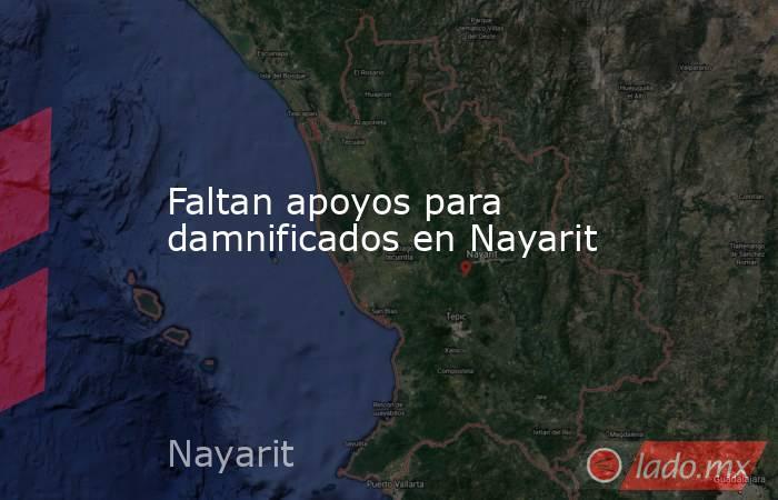 Faltan apoyos para damnificados en Nayarit. Noticias en tiempo real