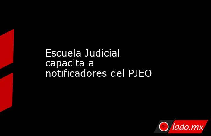 Escuela Judicial capacita a notificadores del PJEO. Noticias en tiempo real