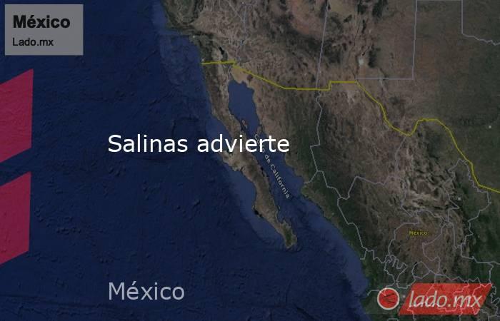 Salinas advierte. Noticias en tiempo real