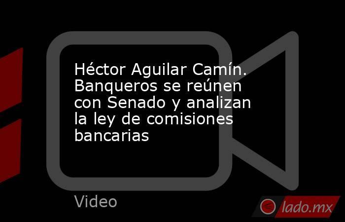 Héctor Aguilar Camín. Banqueros se reúnen con Senado y analizan la ley de comisiones bancarias. Noticias en tiempo real