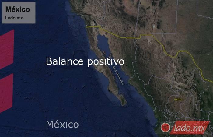 Balance positivo. Noticias en tiempo real