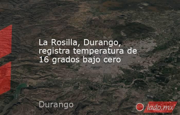 La Rosilla, Durango, registra temperatura de 16 grados bajo cero. Noticias en tiempo real