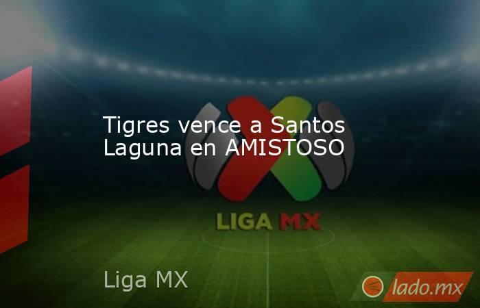 Tigres vence a Santos Laguna en AMISTOSO . Noticias en tiempo real