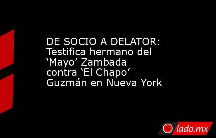 DE SOCIO A DELATOR: Testifica hermano del 'Mayo' Zambada contra 'El Chapo' Guzmán en Nueva York. Noticias en tiempo real