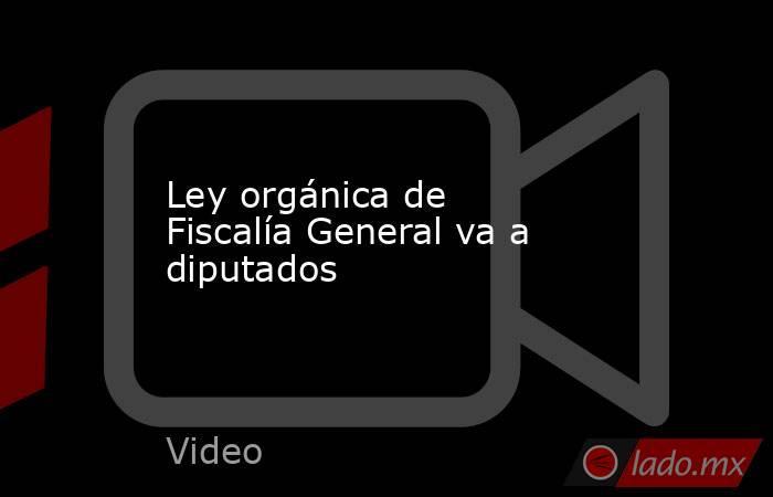 Ley orgánica de Fiscalía General va a diputados. Noticias en tiempo real