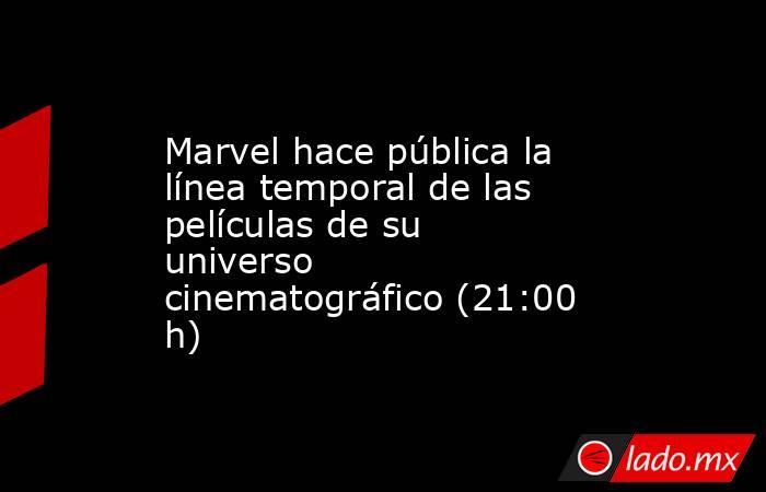 Marvel hace pública la línea temporal de las películas de su universo cinematográfico (21:00 h). Noticias en tiempo real