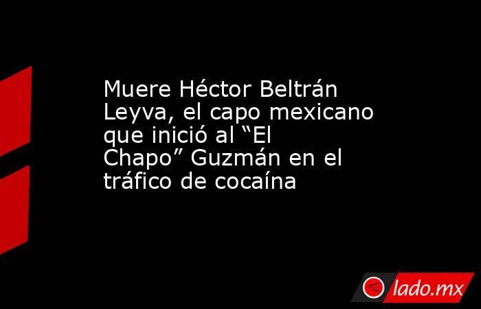 """Muere Héctor Beltrán Leyva, el capo mexicano que inició al """"El Chapo"""" Guzmán en el tráfico de cocaína. Noticias en tiempo real"""