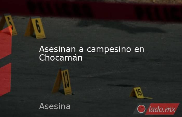 Asesinan a campesino en Chocamán. Noticias en tiempo real