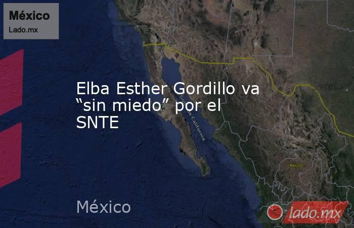 """Elba Esther Gordillo va """"sin miedo"""" por el SNTE. Noticias en tiempo real"""