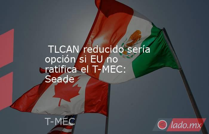 TLCAN reducido sería opción si EU no ratifica el T-MEC: Seade. Noticias en tiempo real