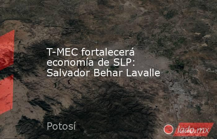 T-MEC fortalecerá economía de SLP: Salvador Behar Lavalle. Noticias en tiempo real