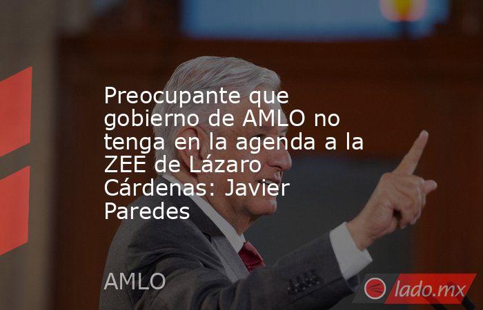 Preocupante que gobierno de AMLO no tenga en la agenda a la ZEE de Lázaro Cárdenas: Javier Paredes. Noticias en tiempo real