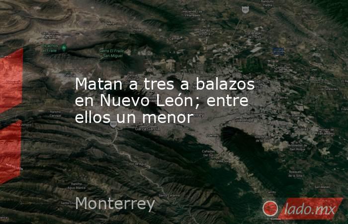 Matan a tres a balazos en Nuevo León; entre ellos un menor. Noticias en tiempo real