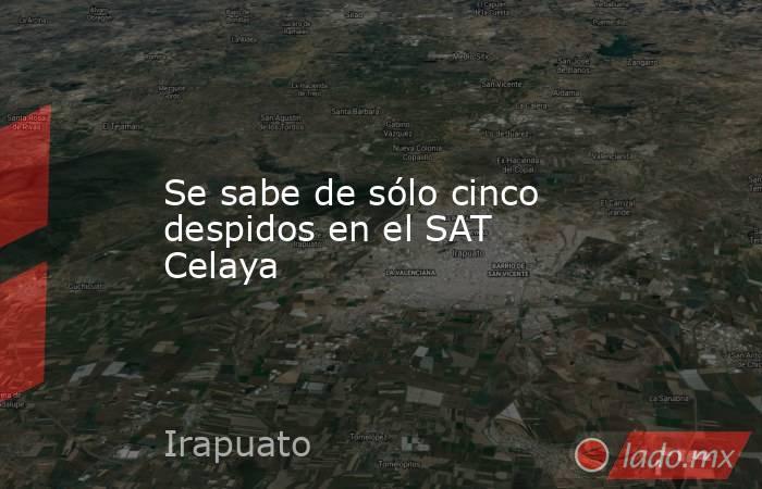 Se sabe de sólo cinco despidos en el SAT Celaya. Noticias en tiempo real