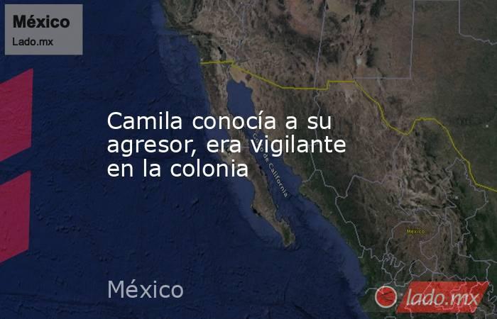 Camila conocía a su agresor, era vigilante en la colonia. Noticias en tiempo real