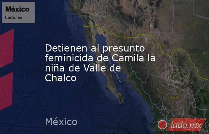 Detienen al presunto feminicida de Camila la niña de Valle de Chalco. Noticias en tiempo real