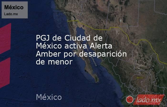 PGJ de Ciudad de México activa Alerta Amber por desaparición de menor. Noticias en tiempo real