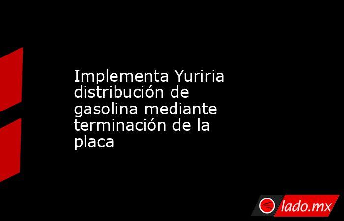 Implementa Yuriria distribución de gasolina mediante terminación de la placa. Noticias en tiempo real