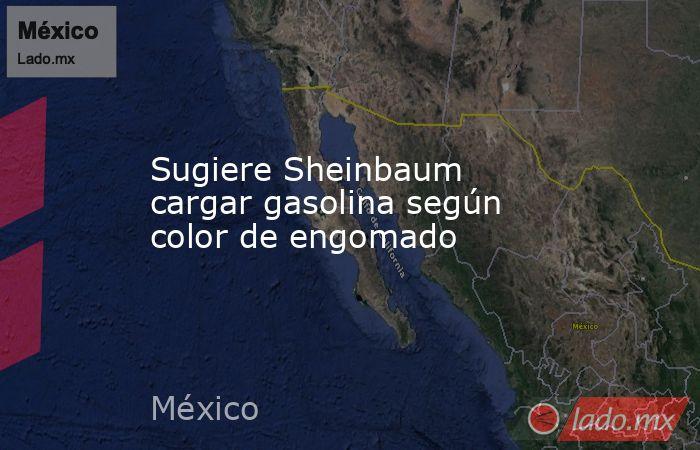 Sugiere Sheinbaum cargar gasolina según color de engomado. Noticias en tiempo real