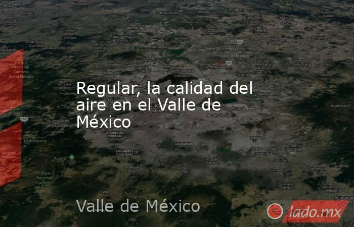 Regular, la calidad del aire en el Valle de México. Noticias en tiempo real