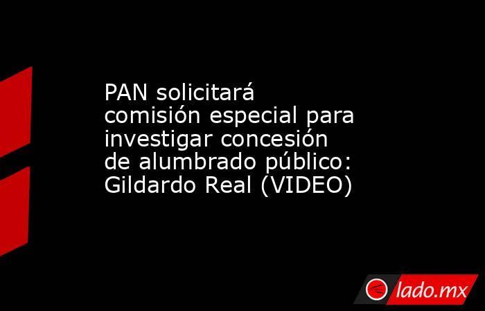 PAN solicitará comisión especial para investigar concesión de alumbrado público: Gildardo Real (VIDEO). Noticias en tiempo real