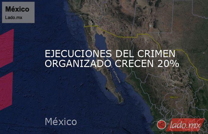 EJECUCIONES DEL CRIMEN ORGANIZADO CRECEN 20%. Noticias en tiempo real