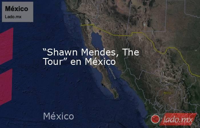 """""""Shawn Mendes, The Tour"""" en México. Noticias en tiempo real"""