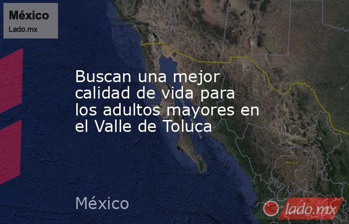 Buscan una mejor calidad de vida para los adultos mayores en el Valle de Toluca. Noticias en tiempo real