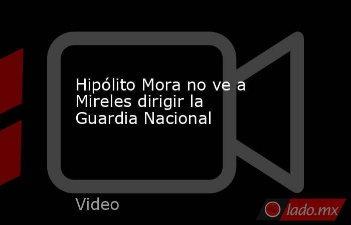 Hipólito Mora no ve a Mireles dirigir la Guardia Nacional. Noticias en tiempo real