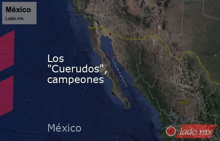 """Los """"Cuerudos"""", campeones . Noticias en tiempo real"""