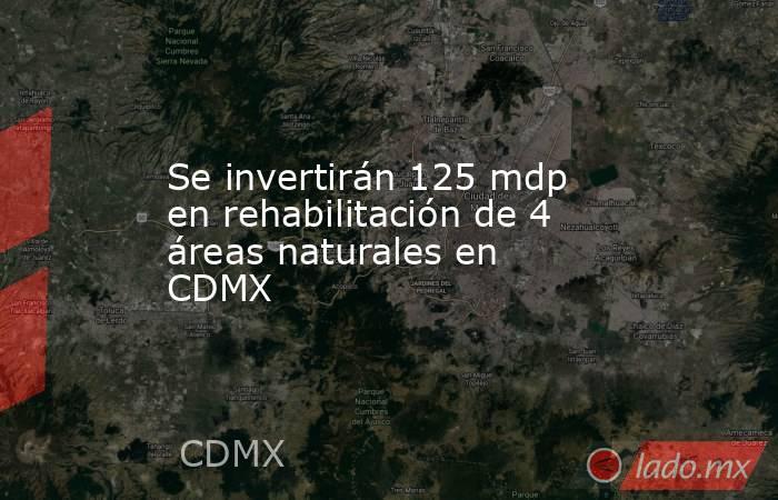 Se invertirán 125 mdp en rehabilitación de 4 áreas naturales en CDMX. Noticias en tiempo real