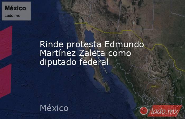 Rinde protesta Edmundo Martínez Zaleta como diputado federal. Noticias en tiempo real