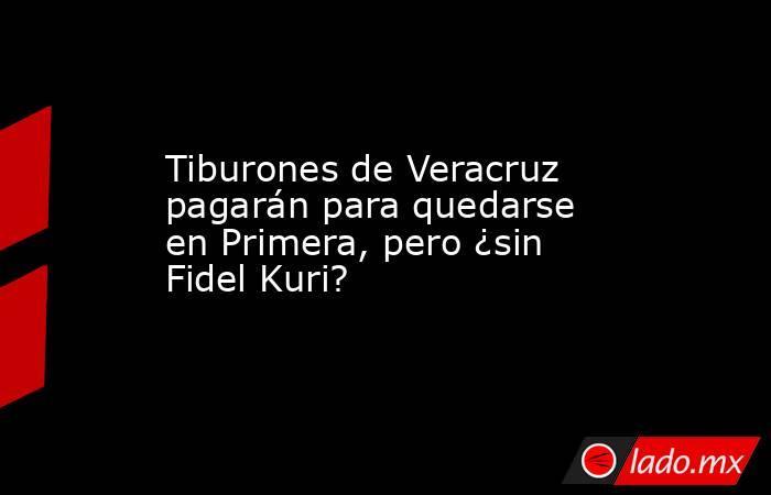 Tiburones de Veracruz pagarán para quedarse en Primera, pero ¿sin Fidel Kuri?. Noticias en tiempo real