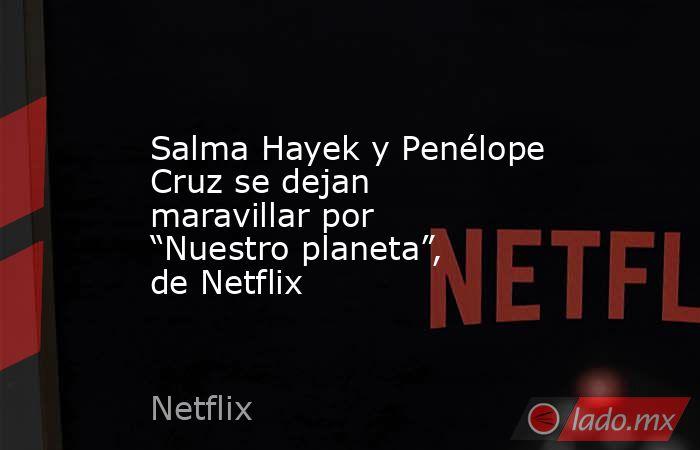 """Salma Hayek y Penélope Cruz se dejan maravillar por """"Nuestro planeta"""", de Netflix. Noticias en tiempo real"""