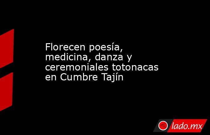 Florecen poesía, medicina, danza y ceremoniales totonacas en Cumbre Tajín. Noticias en tiempo real