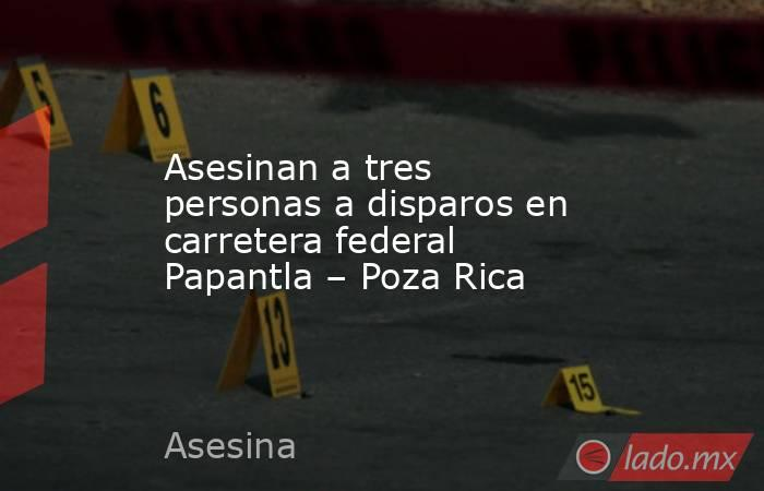 Asesinan a tres personas a disparos en carretera federal Papantla – Poza Rica. Noticias en tiempo real