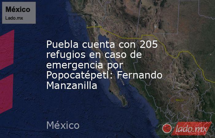Puebla cuenta con 205 refugios en caso de emergencia por Popocatépetl: Fernando Manzanilla. Noticias en tiempo real