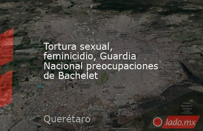 Tortura sexual, feminicidio, Guardia Nacional preocupaciones de Bachelet. Noticias en tiempo real