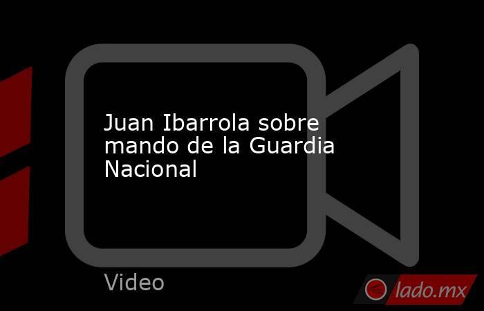 Juan Ibarrola sobre mando de la Guardia Nacional. Noticias en tiempo real