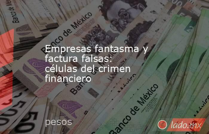 Empresas fantasma y factura falsas: células del crimen financiero. Noticias en tiempo real