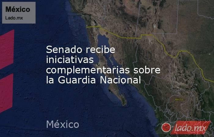 Senado recibe iniciativas complementarias sobre la Guardia Nacional. Noticias en tiempo real