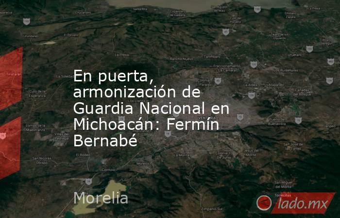 En puerta, armonización de Guardia Nacional en Michoacán: Fermín Bernabé. Noticias en tiempo real